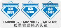 ISO9001一边拉、ISO27001收网、ISO13485认证